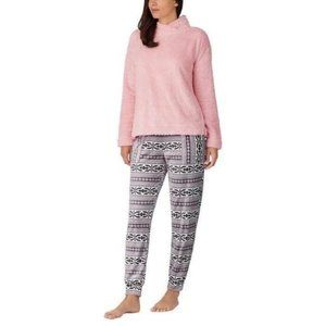 Jane And Bleecker Cozy Lounge Sleepwear Set Pink L